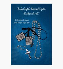 Rosary and Scapular prophesy Photographic Print