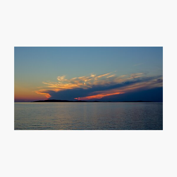 After sunset on Mali Losing beach Photographic Print