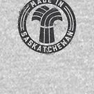 Made in Saskatchewan Grunge Dark Logo by madeinsask