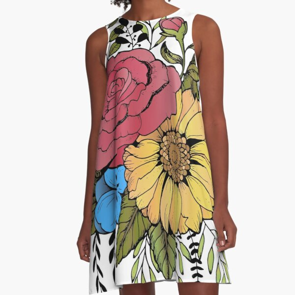 SUNFLOWER & ROSE A-Line Dress