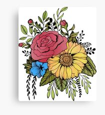 SUNFLOWER & ROSE Canvas Print