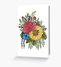 SUNFLOWER & ROSE Greeting Card