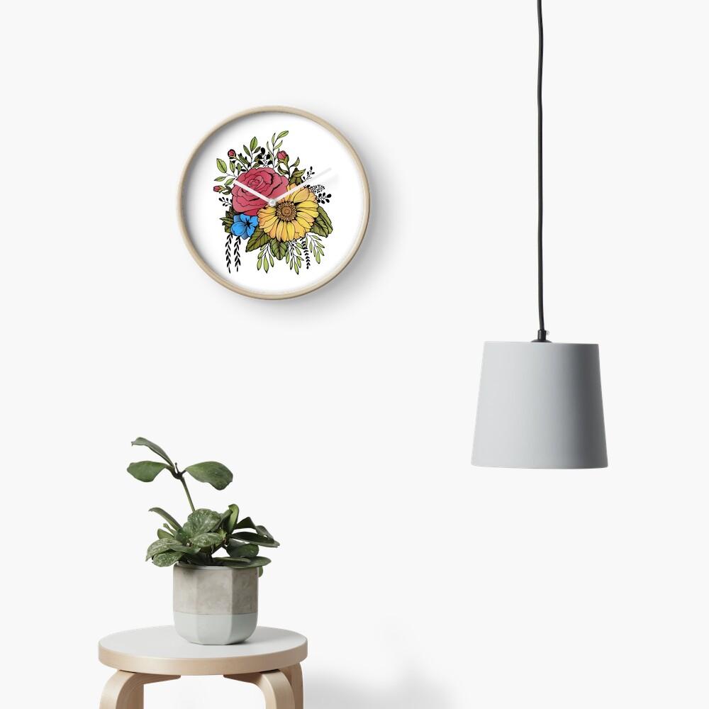 GIRASOL Y ROSA Reloj