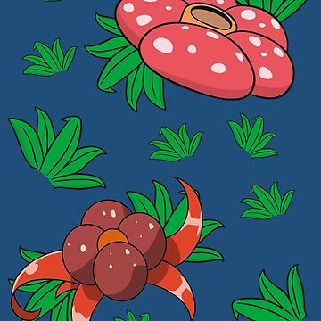 Oddish, Gloom, Vileplume Pattern by ceejsterrr