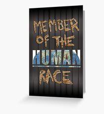 Human Race Greeting Card