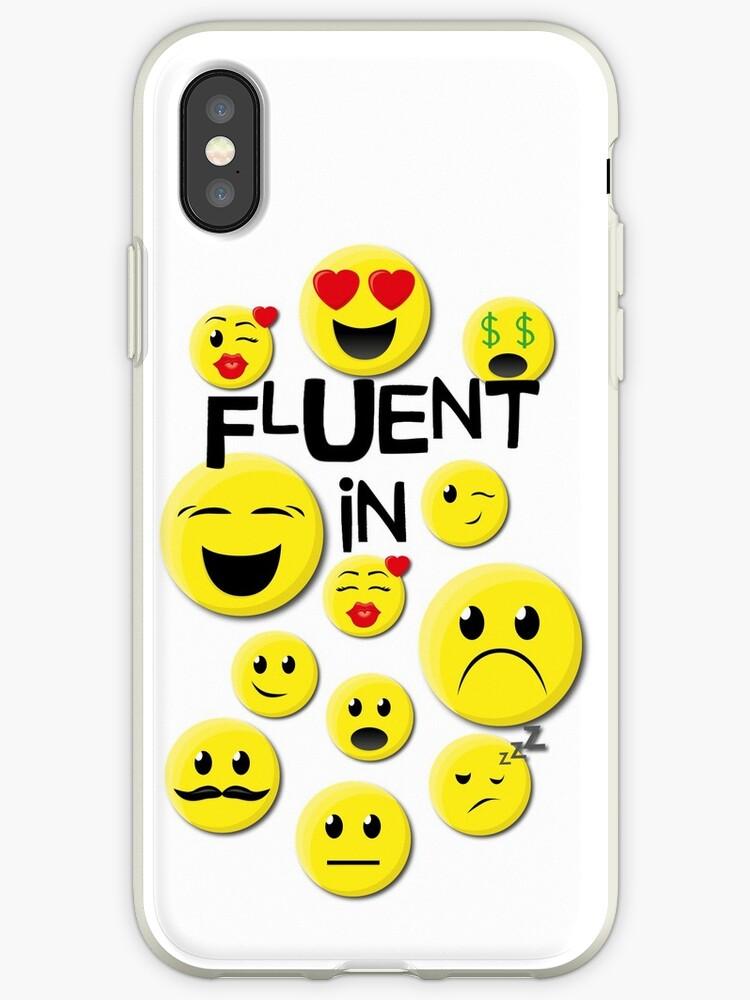 Fluent in Emoji Emoticon Texting Design by 4Craig