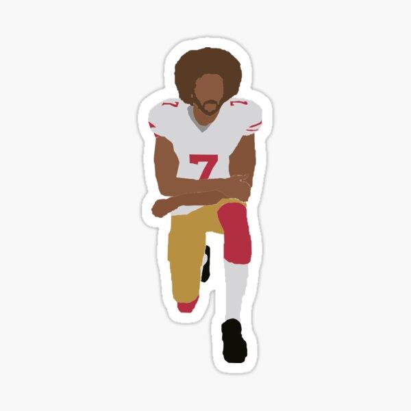 Kneeling Kaepernick Sticker