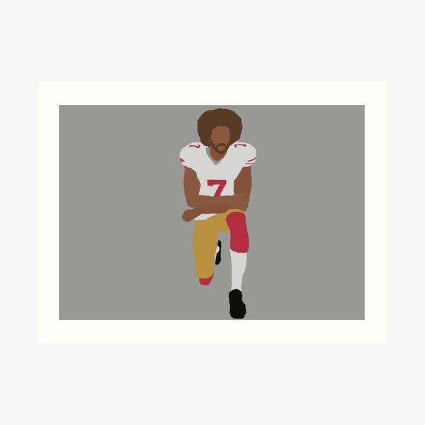 Kneeling Kaepernick Art Print