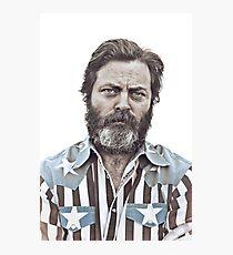 Ron Swanson (Nick Offerman) - An American Hero Photographic Print
