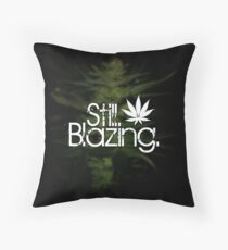 Still Blazing - Black Throw Pillow