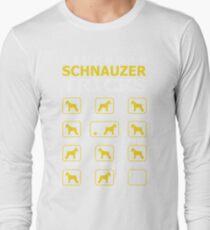 Stubborn Schnauzer Dog Tricks Funny Tshirt T-Shirt