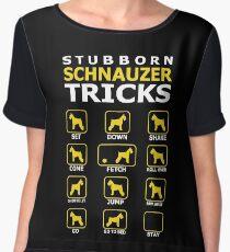 Stubborn Schnauzer Dog Tricks Funny Tshirt Women's Chiffon Top