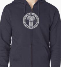 Made in Saskatchewan Grunge Light Logo Zipped Hoodie