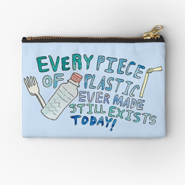 Plastic Awareness Zipper Pouch