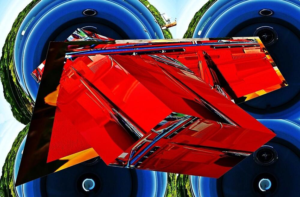 Car hood reflection as art by Karl Rose