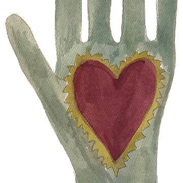 Hearts in Hand Shaker Symbol Art by oldshaker