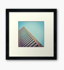 Diagonal Architecture Abstract Framed Print