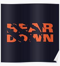 Chicago Bears - Bear Down - Claw Tear Poster