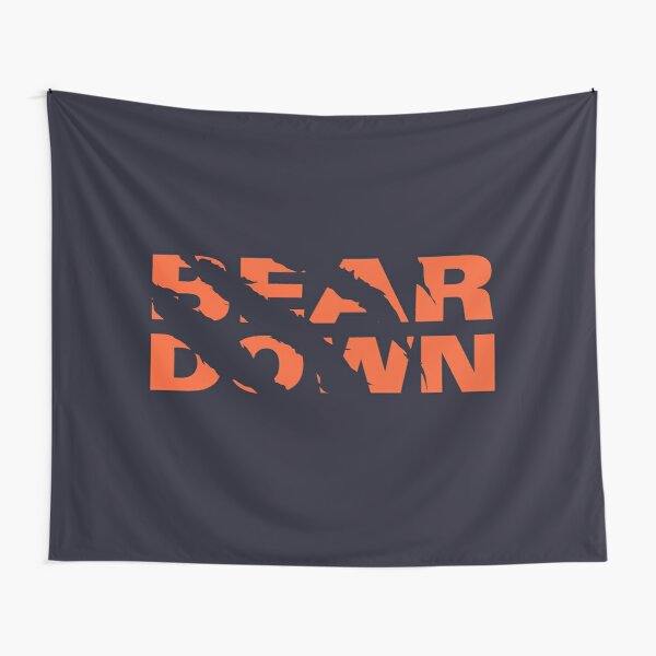 Chicago Bears - Bear Down - Claw Tear Tapestry