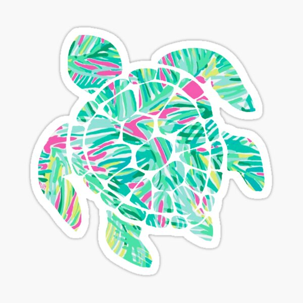 Tropical Turtle Sticker