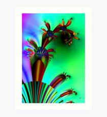 Fractal Cactus Art Print