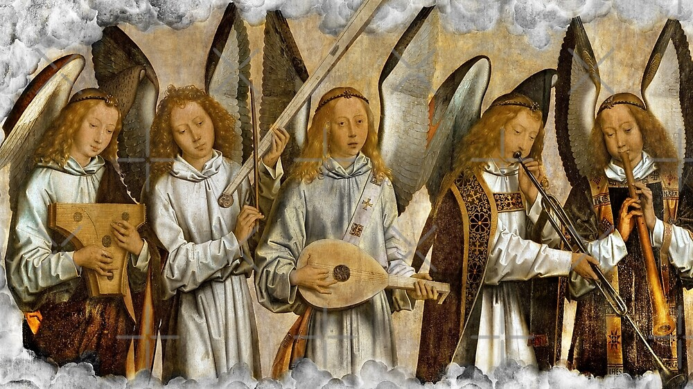 Angel Musicians c1480 by diane  addis