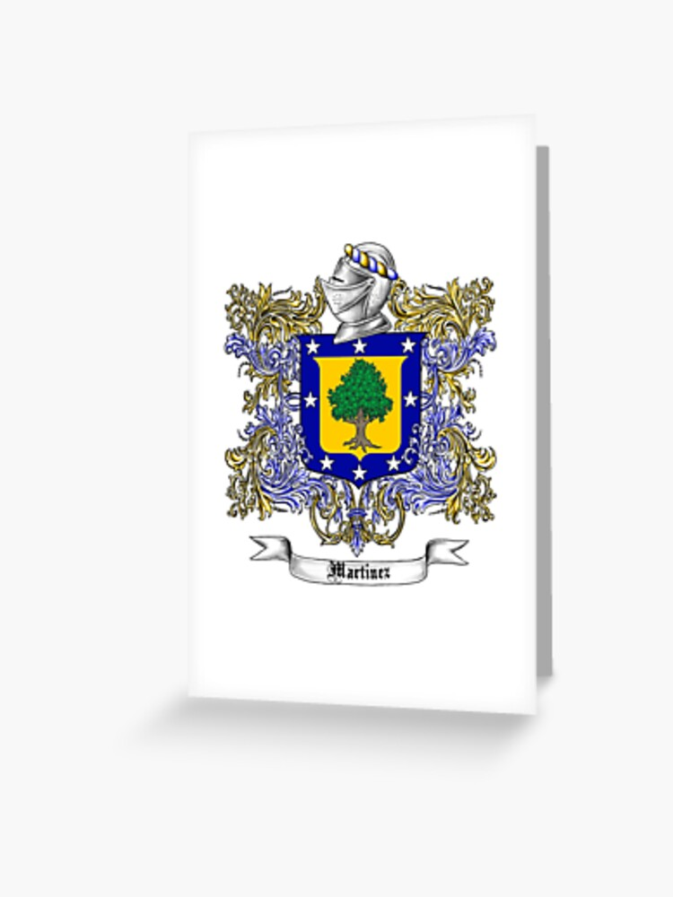 Martinez Family Crest Greeting Card By Atomicblizzard Redbubble