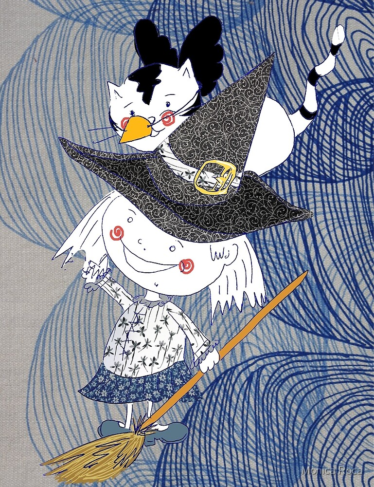 Little witch Nora and Titu by moniroca