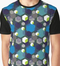 Hexagons and cubes Graphic T-Shirt