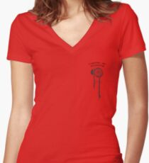 Buttercup Lyric Hippo Campus Women's Fitted V-Neck T-Shirt