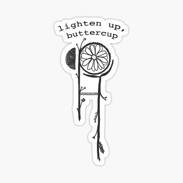 Buttercup Lyric Hippo Campus Sticker