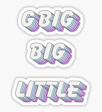 pop art - big little gbig Sticker