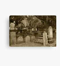 Old Southern Cemetery  Canvas Print