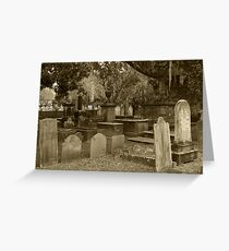 Old Southern Cemetery  Greeting Card