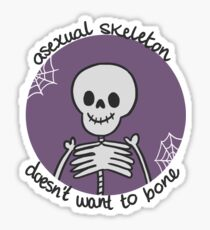 Asexual Skeleton | Spooky Pride Sticker