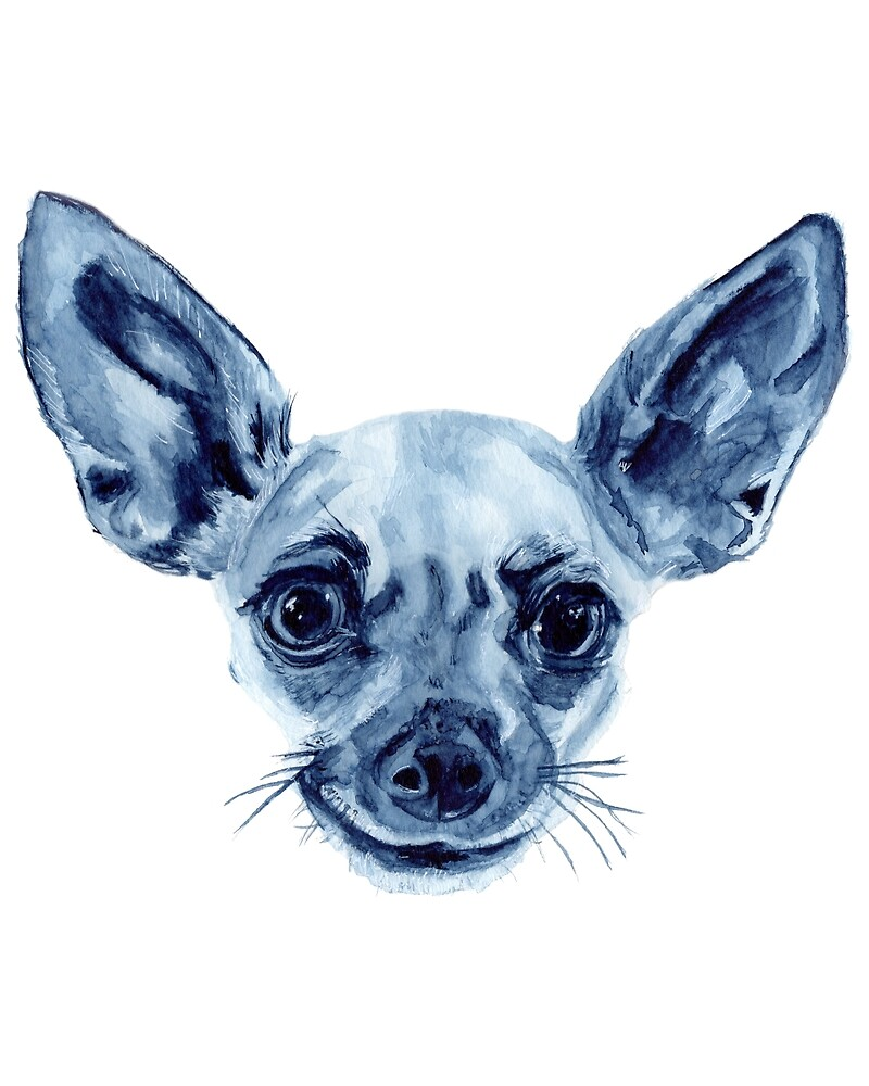 Chihuahua in Indigo by Valerie Voss