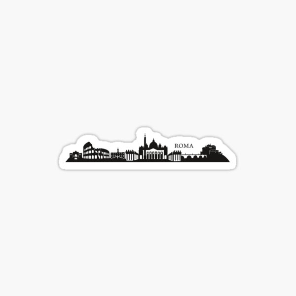 Roma Skyline Sticker
