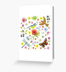 Natural History on White Greeting Card