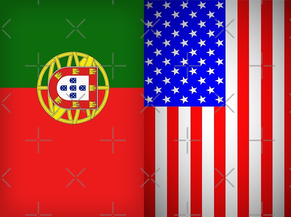 Portugal American Flags by Antonio  Silveira