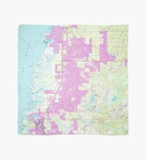 Port Richey Florida Map.Old Florida Map Scarves Redbubble