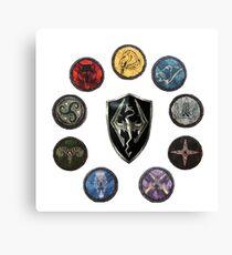 Shields of Skyrim Canvas Print