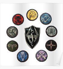 Shields of Skyrim Poster