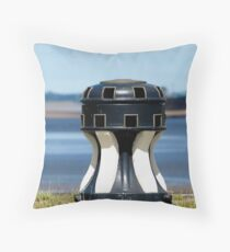 Capstan at the harbour Throw Pillow
