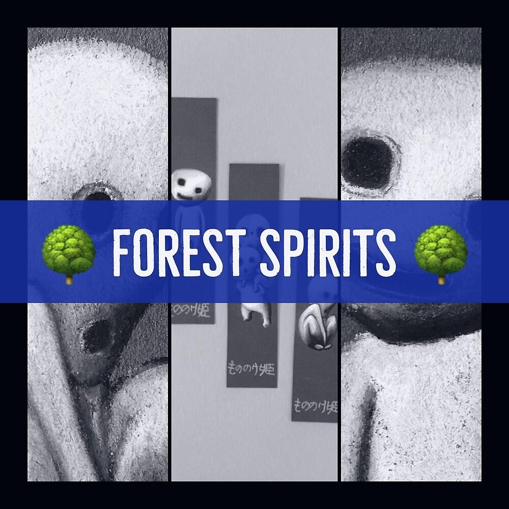 Kodama, forest spirits by Art4feel
