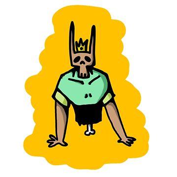 Half a skeleton bunny king by keije