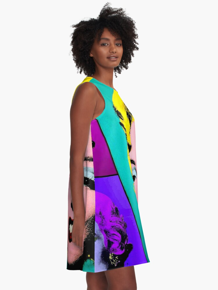 Alternate view of MARILYN : Warhol Style Abstract Print A-Line Dress