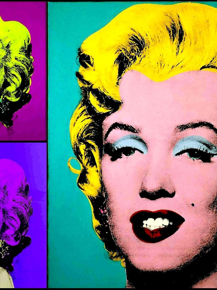 MARILYN : Warhol Style Abstract Print by posterbobs