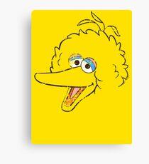Big Bird Face Canvas Print