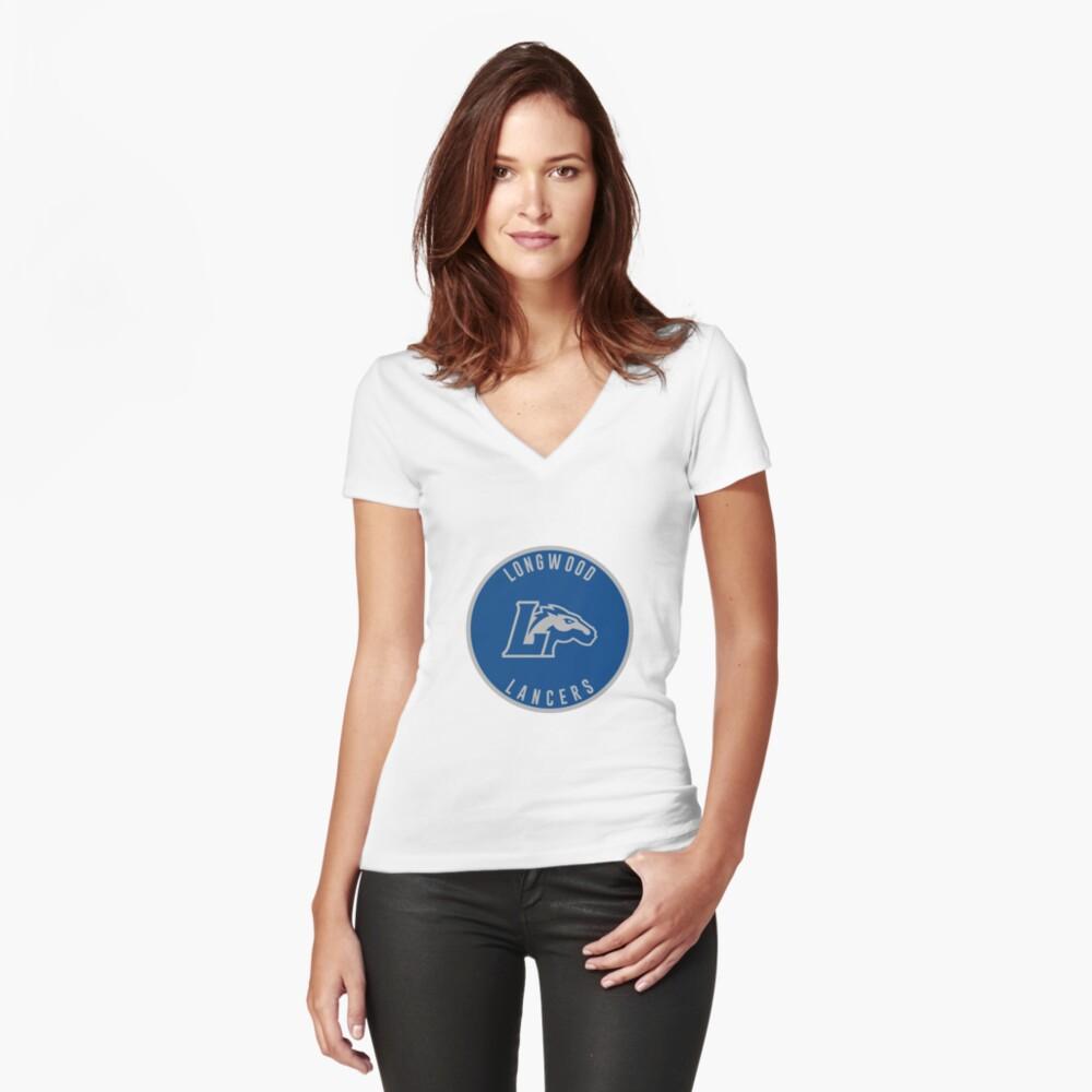 Longwood University - Lancers Women's Fitted V-Neck T-Shirt Front