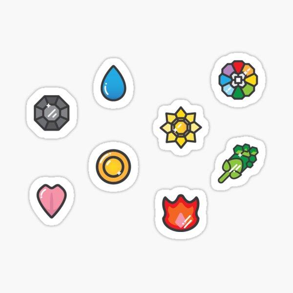 Pokemon Badges Sticker